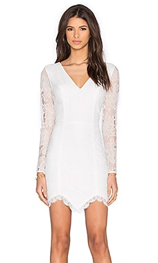 NBD x REVOLVE Long Sleeve Look Back At It Dress in White