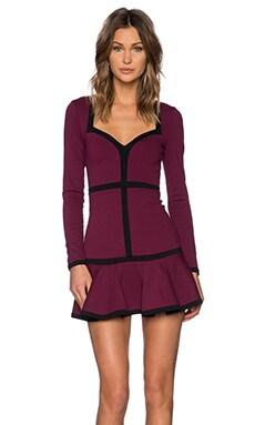 NBD Love Bound Dress in Black & Oxblood