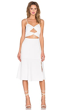NBD x REVOLVE Tie Me Down Dress in White