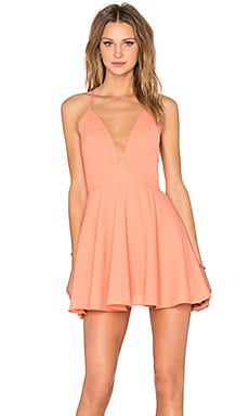 NBD x Naven Twins Everytime Skater Dress in Peach