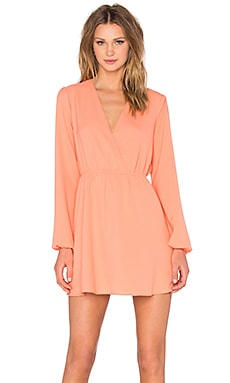 x Naven Twins Deep V Mayhem Dress in Peach