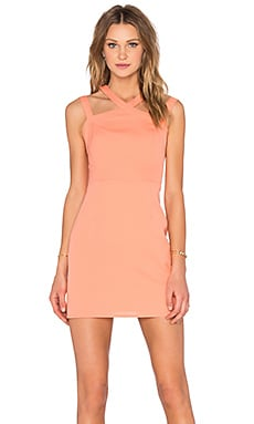 NBD x Naven Twins Electra Bodycon Dress in Peach