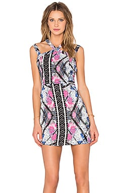 NBD x Naven Twins Electra Bodycon Dress in Tribal Print