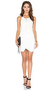 Going Down Dress in Ivory & Black