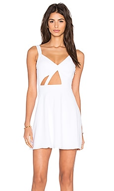 x Naven Twins Trax Fit & Flare Dress in White