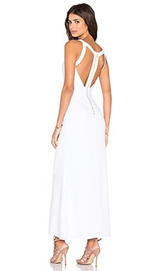 NBD x Naven Twins Trax Maxi Dress in White