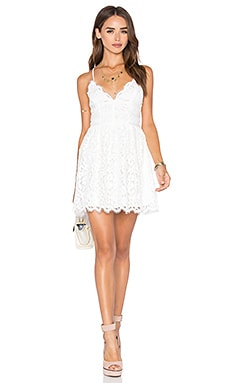 x REVOLVE Give It Up Dress in Ivory