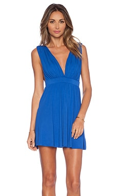 NBD x Naven Twins No Way Fit & Flare Dress in Cobalt