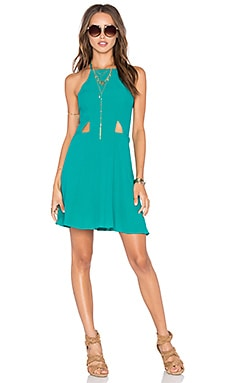 x Naven Twins Sahara High Neck Halter Dress
