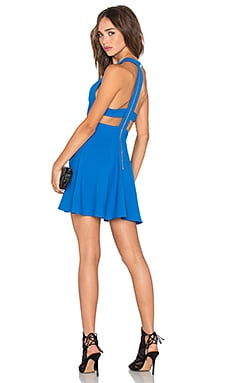 x Naven Twins Te Amo Fit & Flare Dress in Matte Cobalt