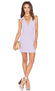 x Naven Twins Flutter Sleeve Romance Bodycon Dress in Lavender