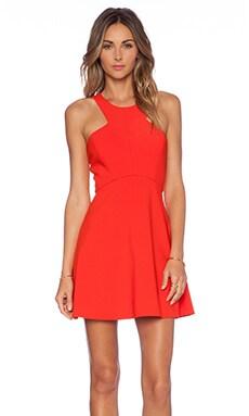 NBD x Naven Twins Believe Me Skater Dress in Poppy Red
