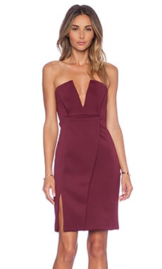 Unravel Midi Dress in Bordeaux