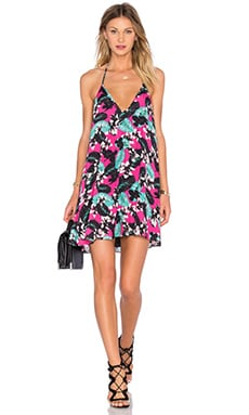 NBD x Naven Twins Swinging Volume Mini Dress in Pink Tropical Floral