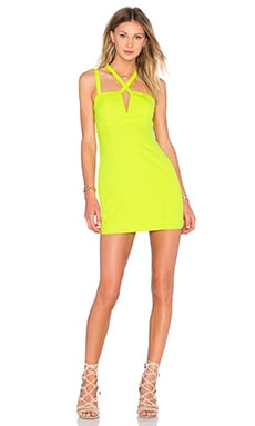 x Naven Twins Choose Me Bodycon Dress in Citrus