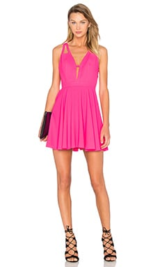 NBD X Naven Twins Let It Happen Fit & Flare Dress in Fucshia