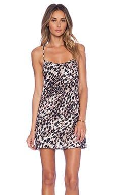 NBD x Naven Twins Spell Babydoll Dress in Leopard