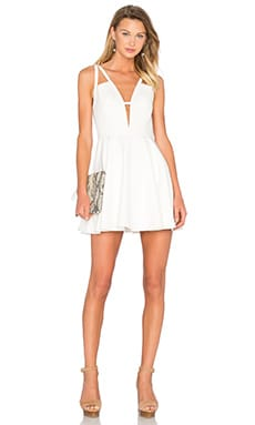 X Naven Twins Let It Happen Fit & Flare Dress in White
