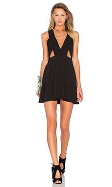 NBD X Naven Twins Ask Me Out Mini Dress in Black