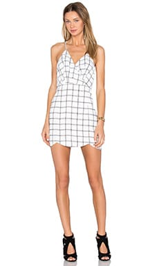 Mist Dress in Black & White Grid