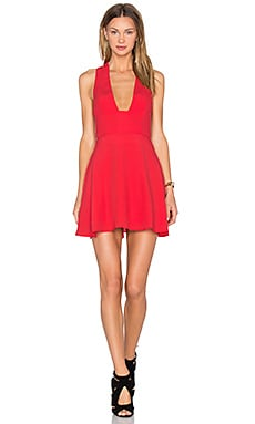 NBD X Naven Twins Just You Fit & Flare Dress in Cherry