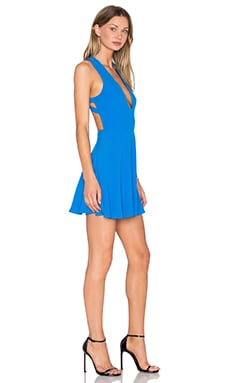 X Naven Twins Just You Fit & Flare Dress in Santorini Blue