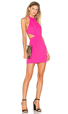 x Naven Twins Begin Again Mini Dress in Rose Pink
