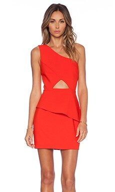 NBD x Naven Twins Think About It Dress in Poppy Red