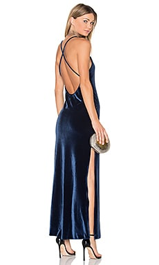 x REVOLVE In The Deep Maxi Dress in Marineblau
