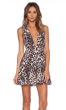 x Naven Twins See No Evil Dress in Leopard