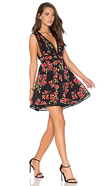 Isaac Dress in Red Floral Print
