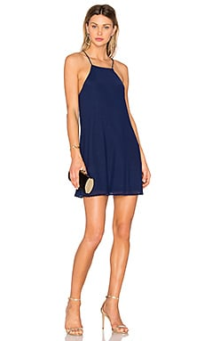 Lisa Shift Dress in Midnight Indigo