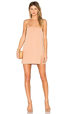 Jaxon Mini Dress in Caramel & Gold