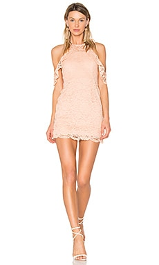 x REVOLVE Celeste Dress in Nude Beige