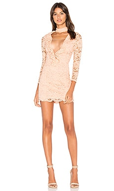 x REVOLVE Lizzy Dress in Nude Beige