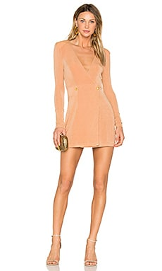 River Mini Dress in Caramel & Gold