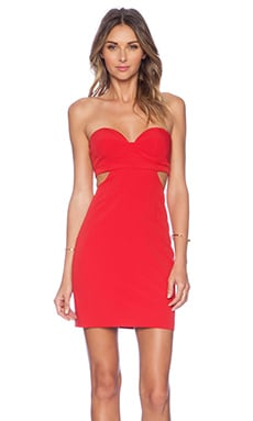 NBD Scoop Me Dress in Red