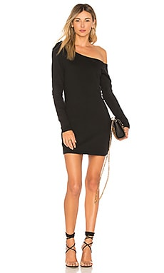 Купить Платье свитер lex - NBD, С одним плечом, США, Черный