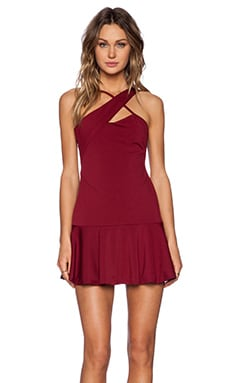Double Take Dress en Oxblood