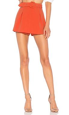 Фото - Юбку с поясом jump start - NBD оранжевого цвета
