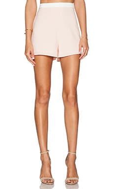 x Naven Twins Last Call Shorts in Taupe
