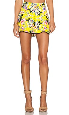 NBD x Naven Twins Lately Shorts in Canary Floral