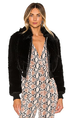 Badlands Faux Fur Bomber NBD $124
