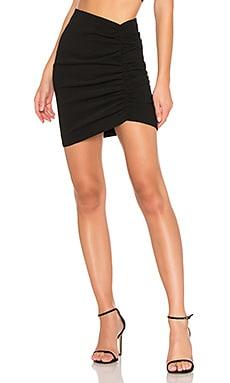 Купить Мини-юбка с рюшами fitzgerald - NBD черного цвета