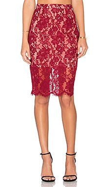 x REVOLVE Bad Reputation Skirt in Burgundy
