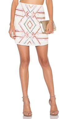 x Naven Twins Go Getter Skirt in White Embellished