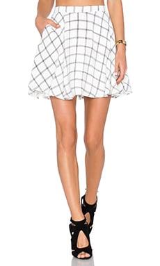 NBD Perfect Day Skirt in Black & White Grid