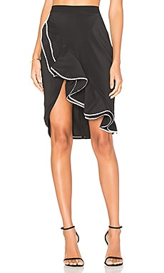 x REVOLVE Zayleigh Skirt in Black