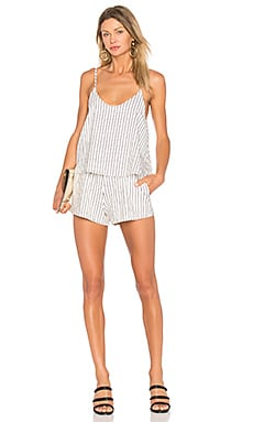 Lyric Romper in Mauve Stripe