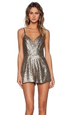NBD x Naven Twins Party Crasher Romper in Sequin